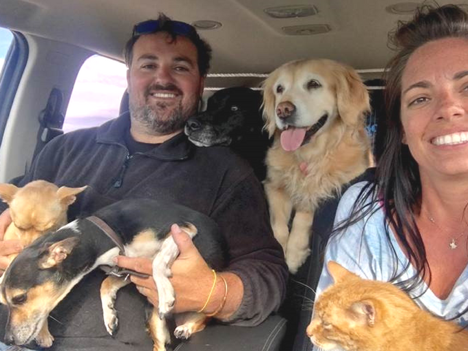 Pet Family Selfie in Australia