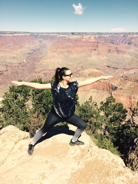 Evelyn at the grand canyon