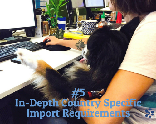 in depth country specific pet import requirements