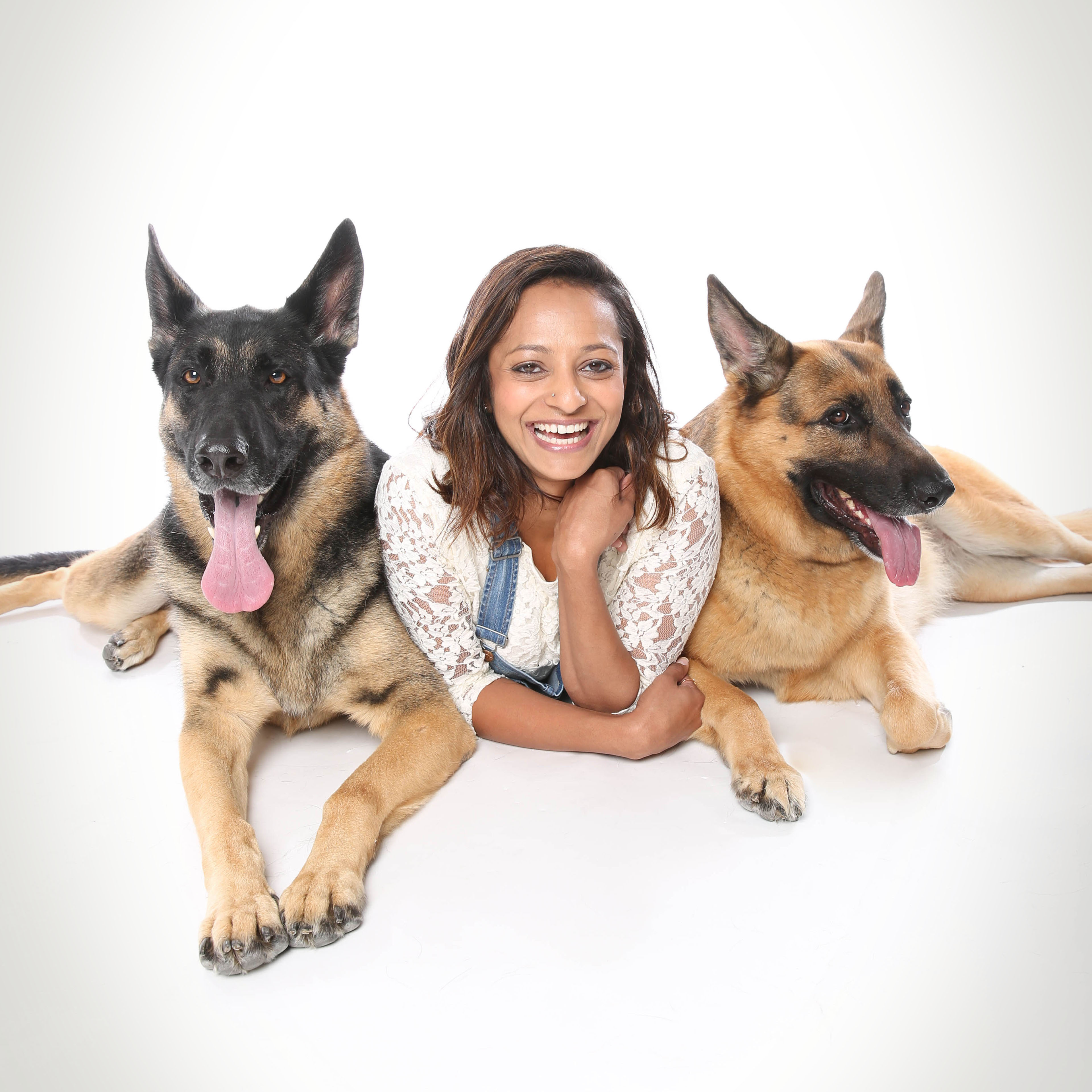 Sandhya and her dogs