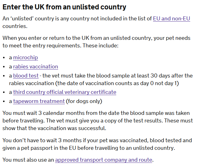 uk import rules for unlisted countries